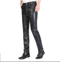30 39 100 Goat Skin Genuine Leather Leather Pants Men S Windproof Locomotive Warm Add Cotton