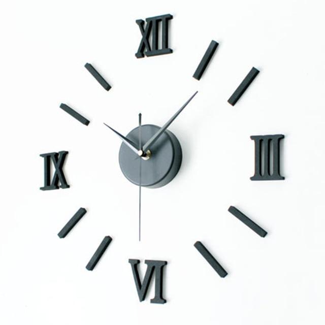 new arrival roman numerals design sticker eva 30cm 60cm kitchen wall clock large decorative 3d - Kitchen Wall Clocks