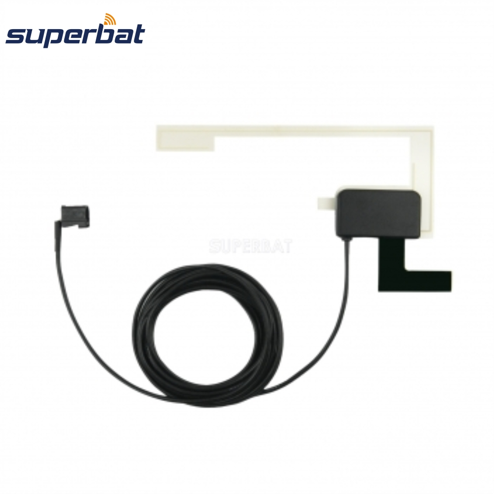 Superbat DAB/DAB+/FM/AM Car Radios Aerial Fakra Of Amplified Internal Glass Mount Antenna Fakra A Female For Pionner JVC Kenwood