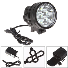 SecurityIng 3500 Lumens 7 x LB-XL T6 Super Bright LED Bicycle Torch Light with 8000mAh Battery Pack