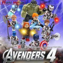 Avengers 4 Endgame Legoings Single Thanos Thor War Machine Raccoon Hawkeye Black Widow MK1 MK50 MK5 Building Blocks Gifts Toys