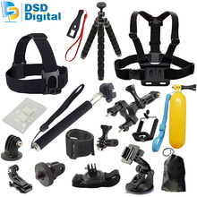 SAQN for Sjcam camera bag accessories kit for sj5000x sj4000 m20 gopro hero5 session black action camera xiaomi 4k eken h8 h906F