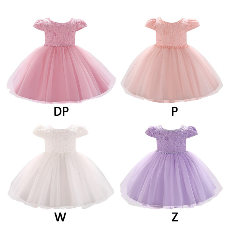 Multicolor Embroidery Design Lace Dress Little Girl Princess Dress Girl Casual Party Children Pageant Mesh Princess Dress Hot image