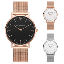 Rose Gold Luxury Brand Women Watches Fashion Slim Stainless