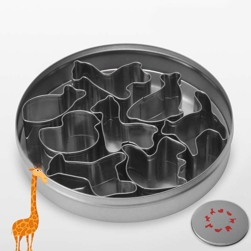 7/8PCS Set DIY Baking Cake Mould Stainless Steel Animal/Plant Shape Mousse Decorative Durable Mold Set E2S