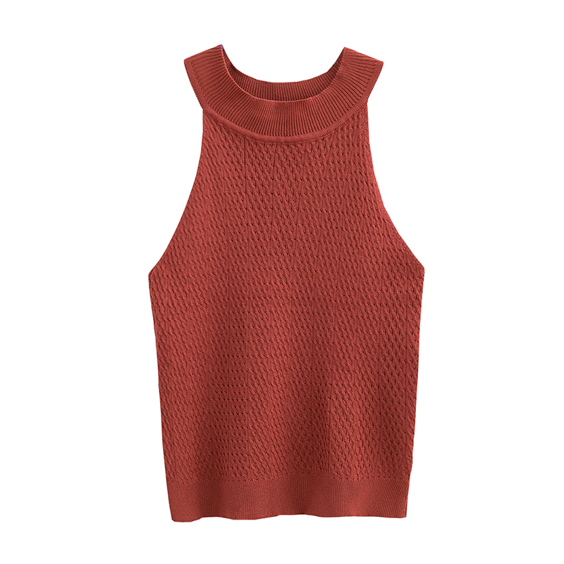 Crop Top Women Camis Knitted Halter Top Tank Tops Women Camisole