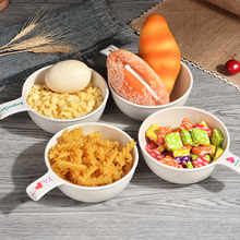 Natural Bamboo Fiber Bowls Cute Cartoon Baby Dishes Feeding Tableware Children Infant Toddler Portable Environmental Plate