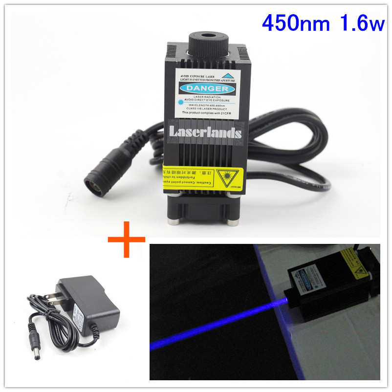 33*55mm 450nm 1.6W Blue Laser Diode Module for CNC Engraving Cutting with 1.6W Osram PLTB450B 1000mw 450nm focusing blue laser module engraving ttl module 1w laser tube laser diode module