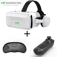 VR SHINECON G04EA VR Virtual Reality Glasses Headset Helmets Game Stereo Headphone And VR Buletooth Gamepad For 4.7 6inch Phone