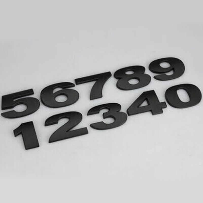 1 Pcs Mobil Stiker Perak Hitam Creative 3D Huruf A-Z/0-9 Emblem Digital Gambar Nomor Krom DIY mobil Gaya Logam Stiker
