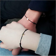 Silver Gold Heart Adjustable Red Rope Bracelet For Women Men Kids Red String His &Her Matching Paired Bracelets&Bangle Couple(China)
