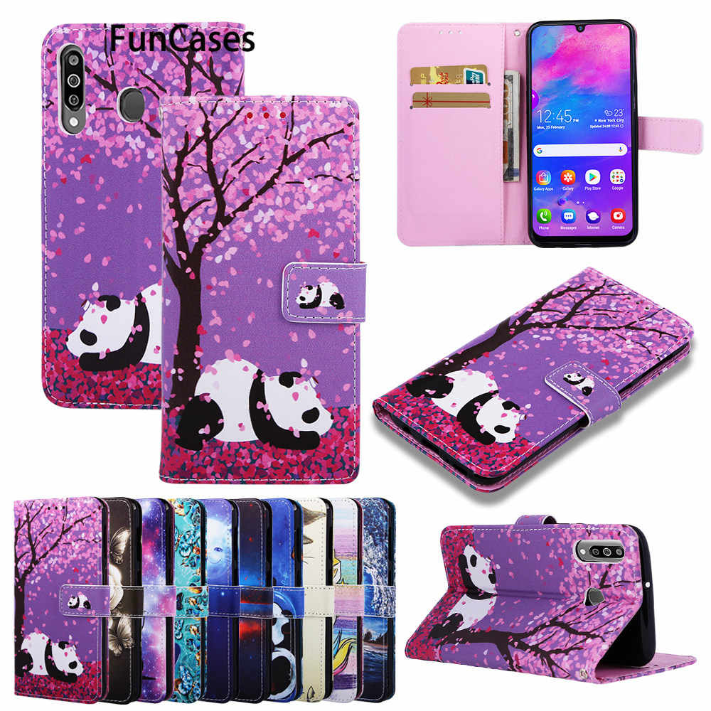 Panda PU Leather Phone Bag For capinha Samsung S9 Case Unicorn Coques Samsung Galaxy telefon S8 Plus S10 Lite J4 J6 2018 galaxie