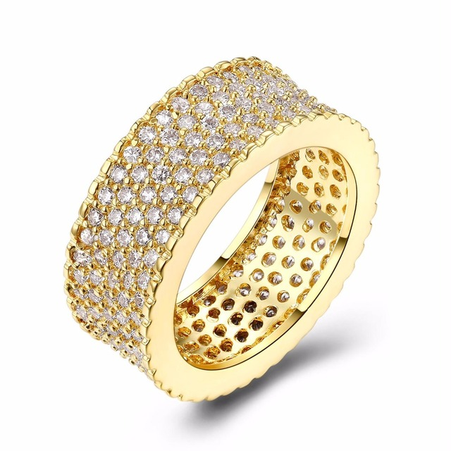 Latest Design Luxury Round Rings Allergy Free Aaa Cubic Zirconia Wedding Made With Copper Alloy