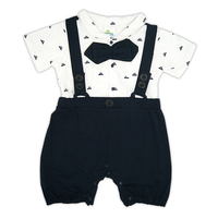 New 2016 Gentleman Short Sleeve Cotton Baby Clothes And Hat High Quality Newborn Baby Boy And