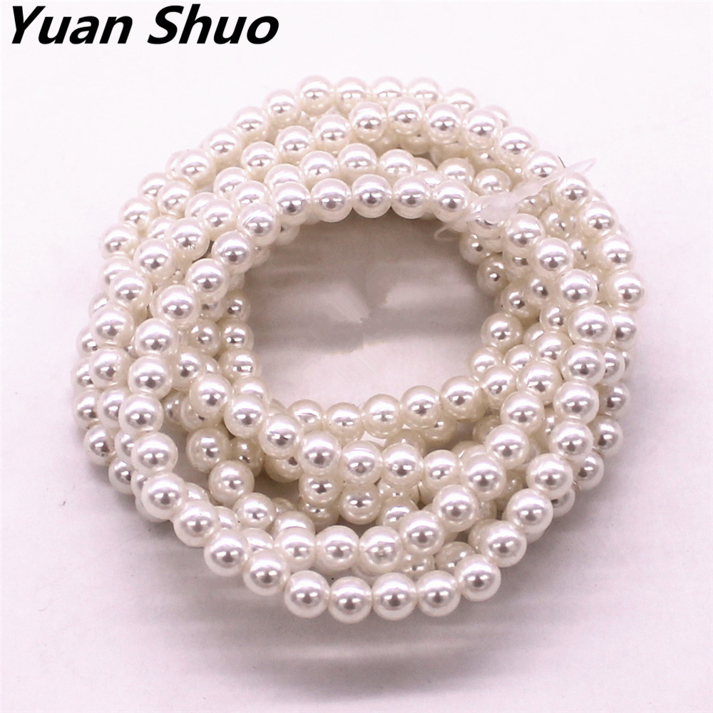 Europe and the United States jewelry wholesale fashion new 6 mm diameter  8 combination elastic pearl jewelry bracelet