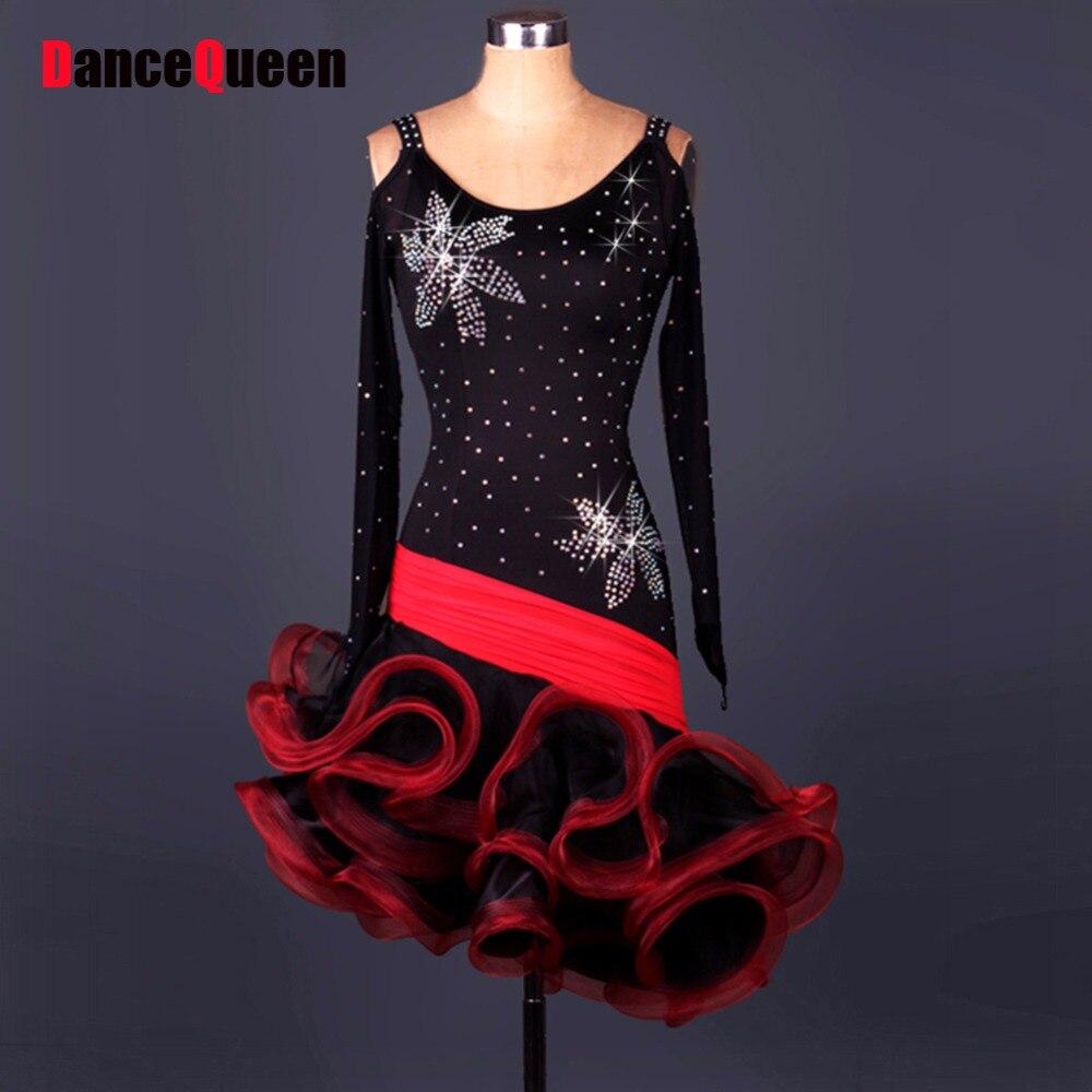 Women Latin Dress Dancing Dress Woman Ballroom Tango Flamenco Dresses Samba Costumes Stage Sexy Dress Dance Wear Womens