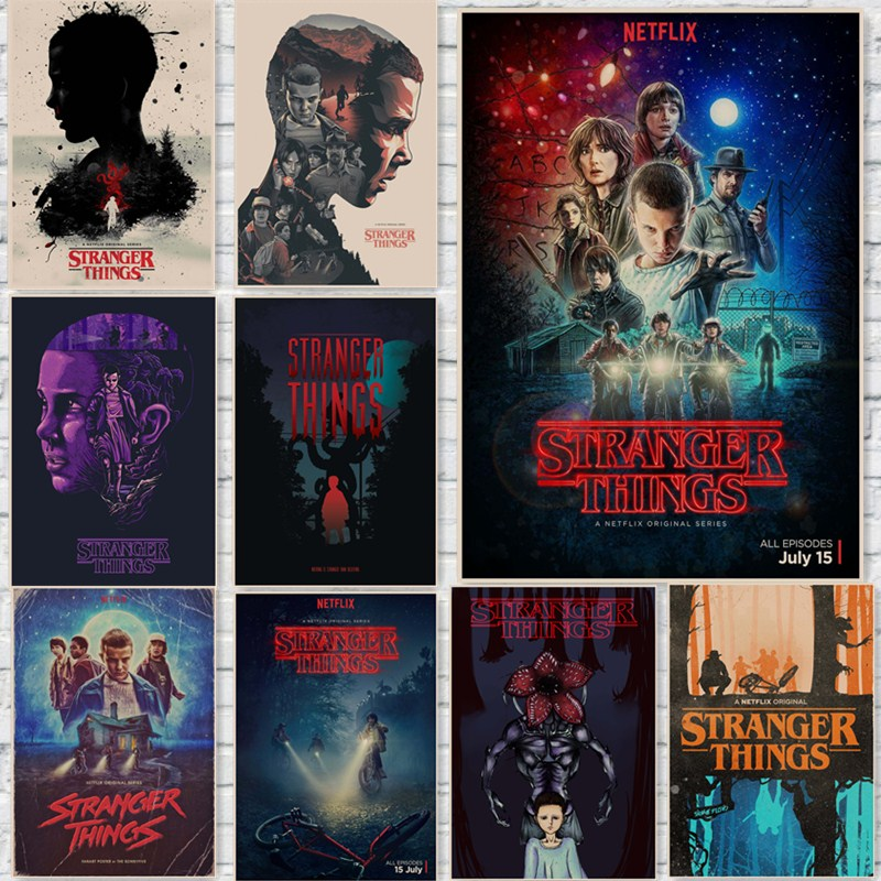 Stranger Things Posters Wall Stickers Home Decoration TV Show Prints home art  Brand(China)