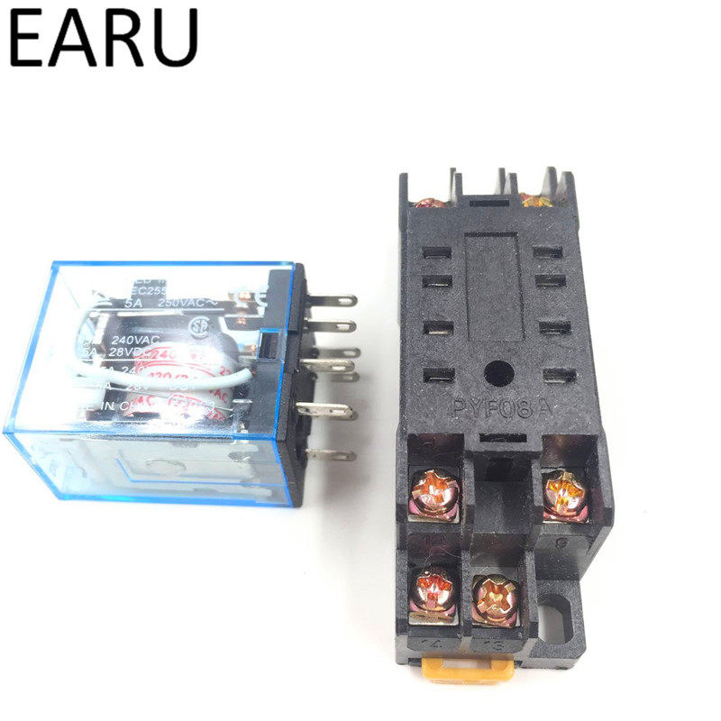 Online Shop Sets MYP HHP MYNJ Relay Coil General DPDT Micro - Electromagnetic relay switch