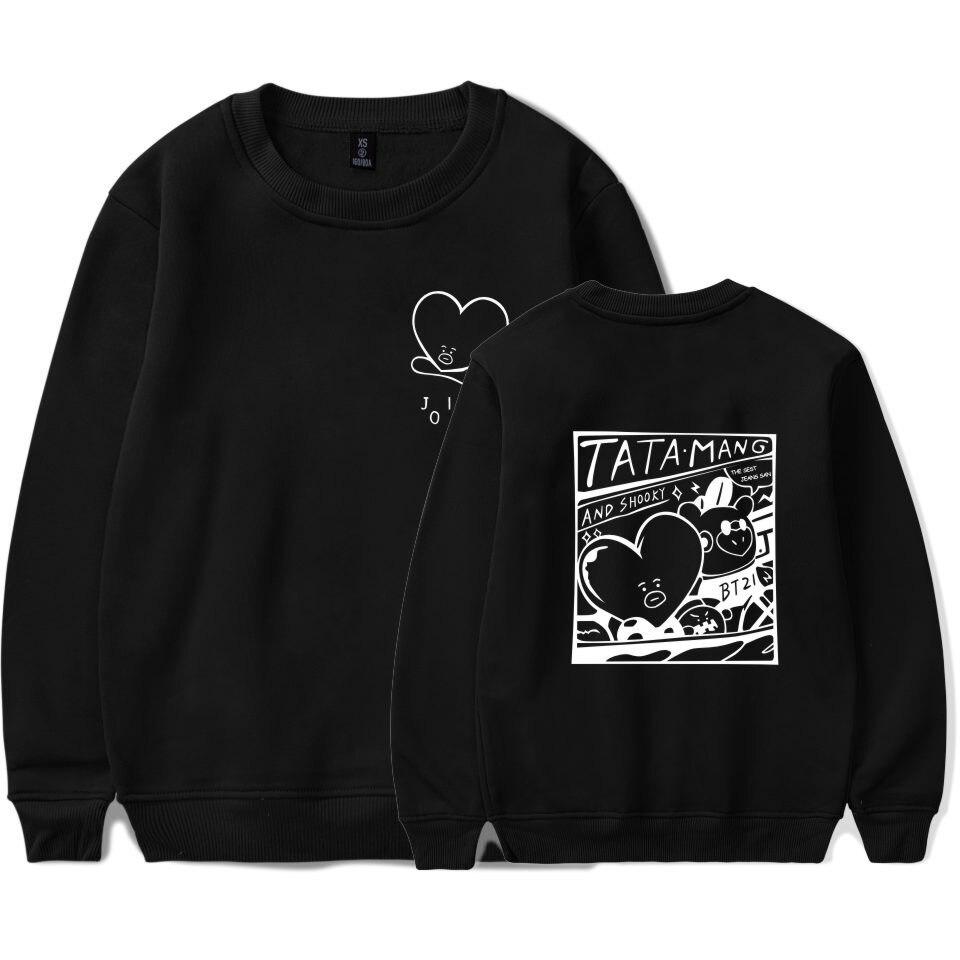 drop shipping LOVE YOURSELF BTS Kpop V Style Hoodies Sweatshirts Women/Men Winter Sweatshirt Women Kpop Fans Warm Clothes