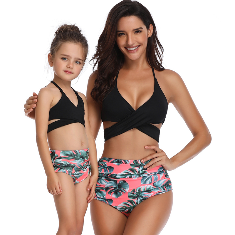 7fced649 Familie matchende klær Antrekk Badetøy Mor og datter Bikini Set på ...