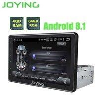 JOYING 4 Гб ОЗУ 64 Гб ПЗУ Восьмиядерный встроенный DSP Android 8,1 автомобильный Радио стерео Android Авто gps видео выход 8 HD экран головное устройство