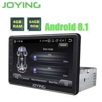 JOYING 4GB RAM 64GB ROM Octa core built in DSP Android 8.1 car radio stereo Android auto GPS Video out 8 HD screen head unit