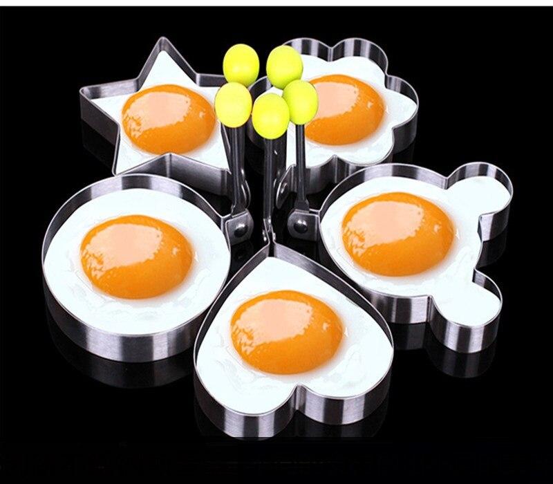5 Teile/satz Diy Nicht-stick Edelstahl Ei Form Omelett/ring Braten Ei Formen Kochen Formen Gebraten Für Kinder Von Verschiedenen Blumen RegelmäßIges TeegeträNk Verbessert Ihre Gesundheit