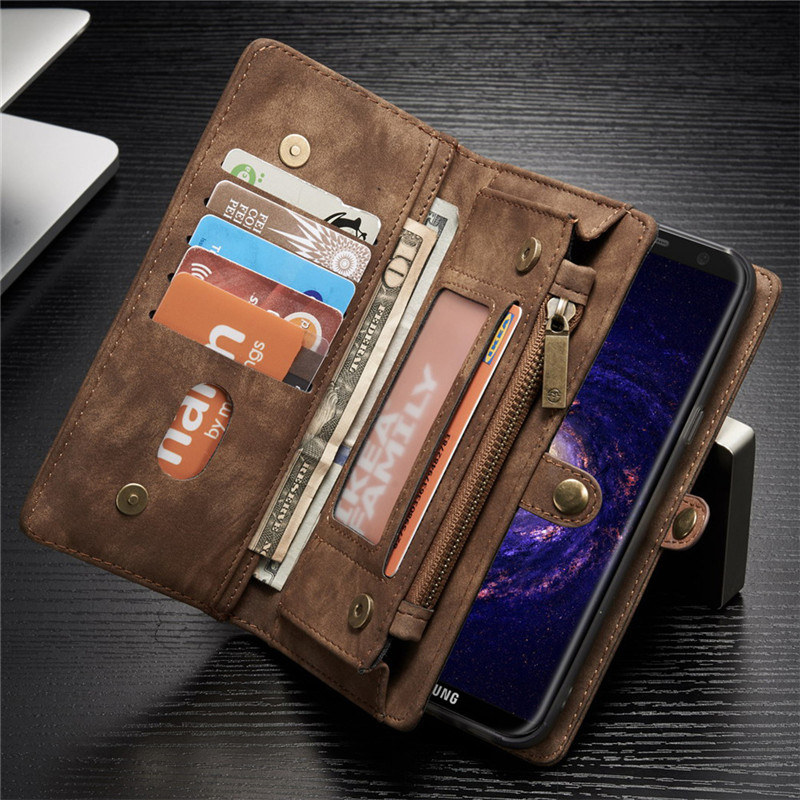 genuine leather flip cover for samsung galaxy s8 s9 plus. Black Bedroom Furniture Sets. Home Design Ideas