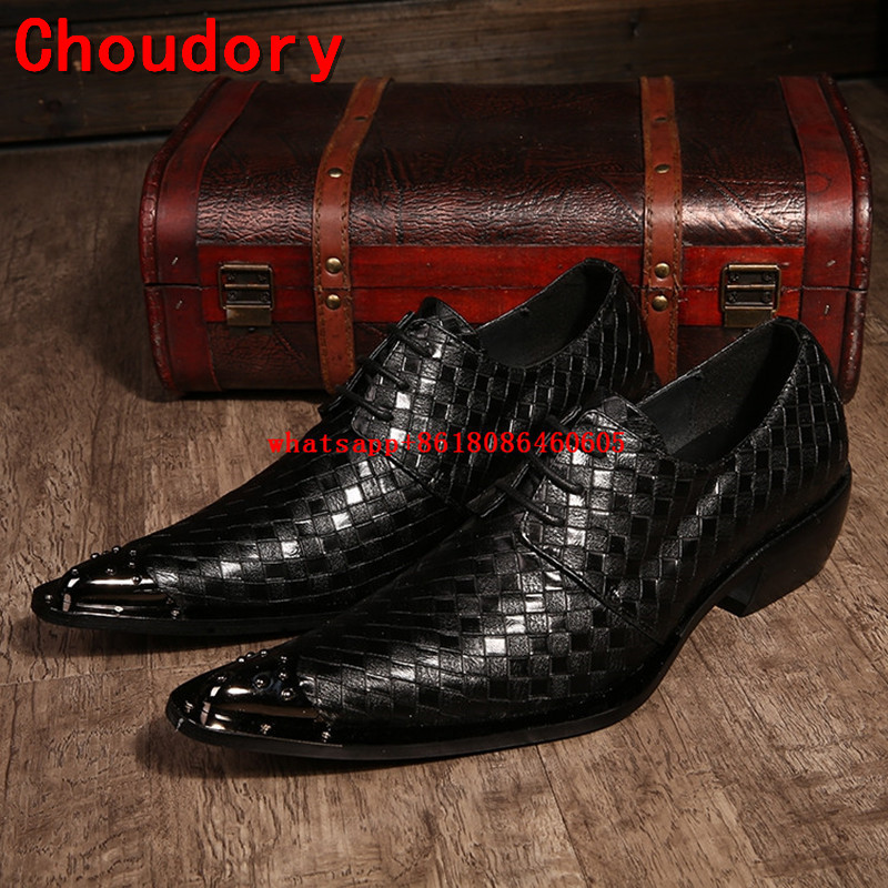 Choudory classic mens pointed toe dress shoes black spiked loafers medium height mariage mens italian leather shoes formal dressChoudory classic mens pointed toe dress shoes black spiked loafers medium height mariage mens italian leather shoes formal dress