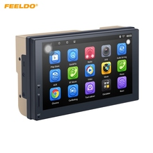 FEELDO 1024*600 Android 6.0 Quad Core de 7 pulgadas Ultra Delgado Del Coche Reproductor multimedia Con GPS Navi de Radio Para Nissan/Hyundai 2DIN ISO # AM3887