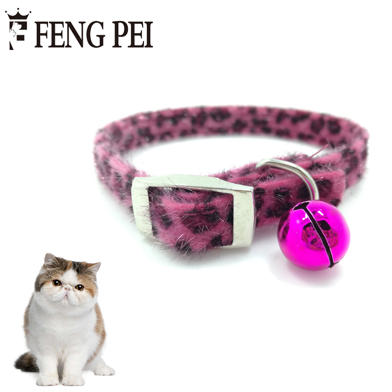1pc Leopard Print Chats Collier Animaux 4 Colors Cute Collars For Cats Pet Cat Tie Necklace Adjustable Collier Chat Animaux