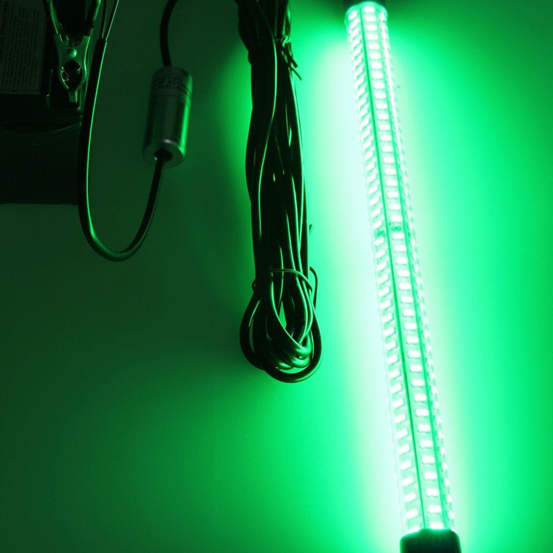 12v Green White 30W Underwater LED Fishing Lights Drop Boat Submersible Fishing Fish Lure Baits eyoyo 104 led 2200lm green underwater night fishing light lamp fishing lure lights