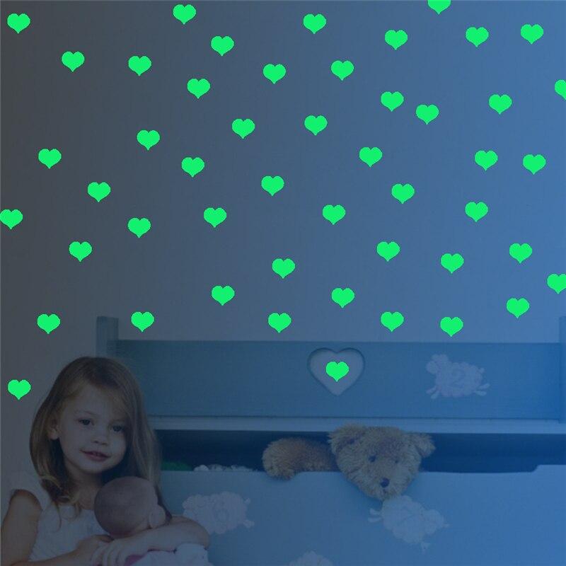 Ssse Leuchtende Geformt DIY Wandaufkleber Fluoreszierende Wandbild Papier Abnehmbare Fliesen Bild Nachtlicht Schlafzimmer Wohnzi