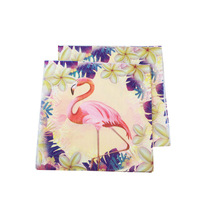 10pcs/lot Flamingo Party Dinnerware Set Disposable Napkin Decoration Kids Birthday Summer Hawaiian Supplies Supplier