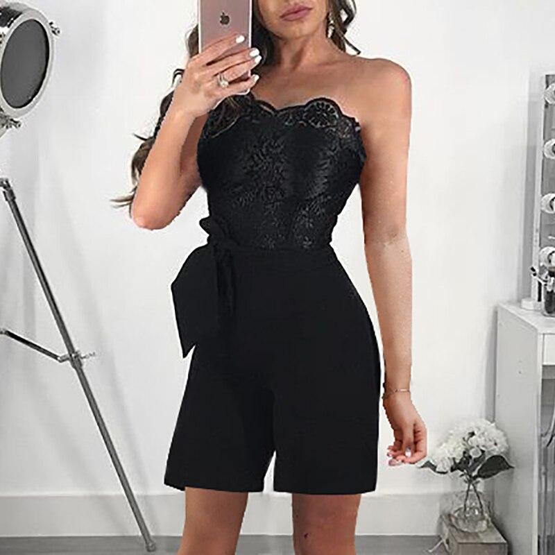 a462b0f6df 2018 Summer New Fashion Women Elegant Female Playsuit Stylish Work ...