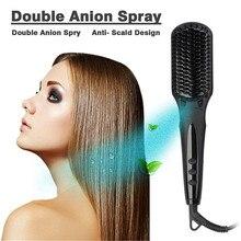Ionic Hair Straightener Brush Ceramic Heating Comb Health Beauty Care Styling