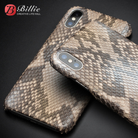 Real Pure Natural Python Skin Original Qialino Brand Back Phone Cover For IPhone X Genuine Leather