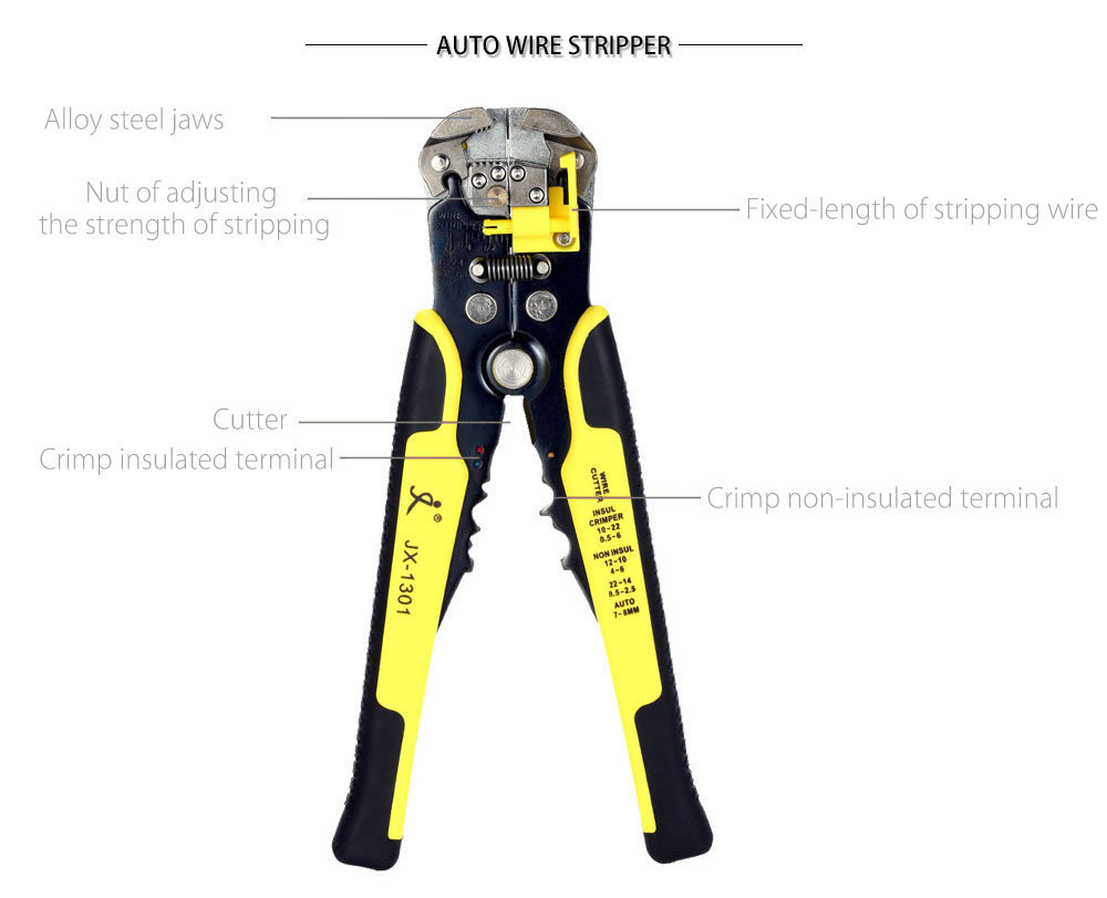 4 In 1 Multi Tools Wire Crimper Tools Kit Engineering Ratchet ...