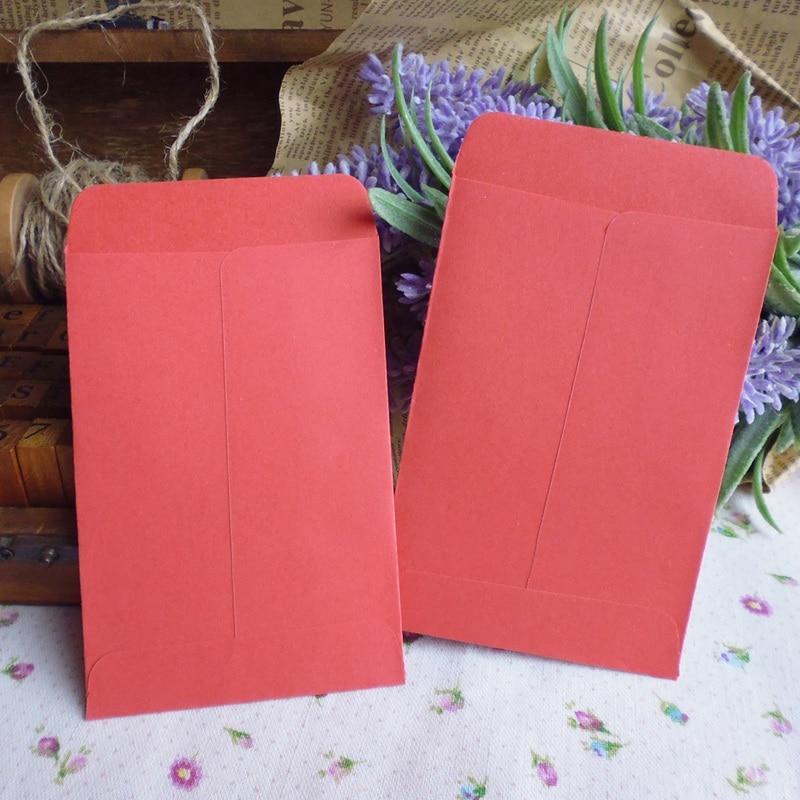 20pcs Red Retro Blank Paper Envelopes Invitation Envelope Gift Card Stationery For Party Favor Paper Bag 7x10cm+1.5cm