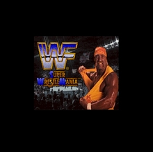 WWF Super WrestleMania 16 bit Big Gray Game Card For USA NTSC Game Player