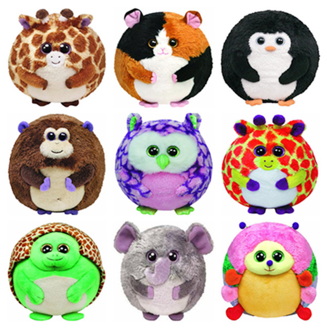 3689631ff2e Ty Beanie Ballz Big Eyes Plush Animals Giraffe Monkey Hamster Dog Owl  Turtle Hulk Spiderman Caterpillar