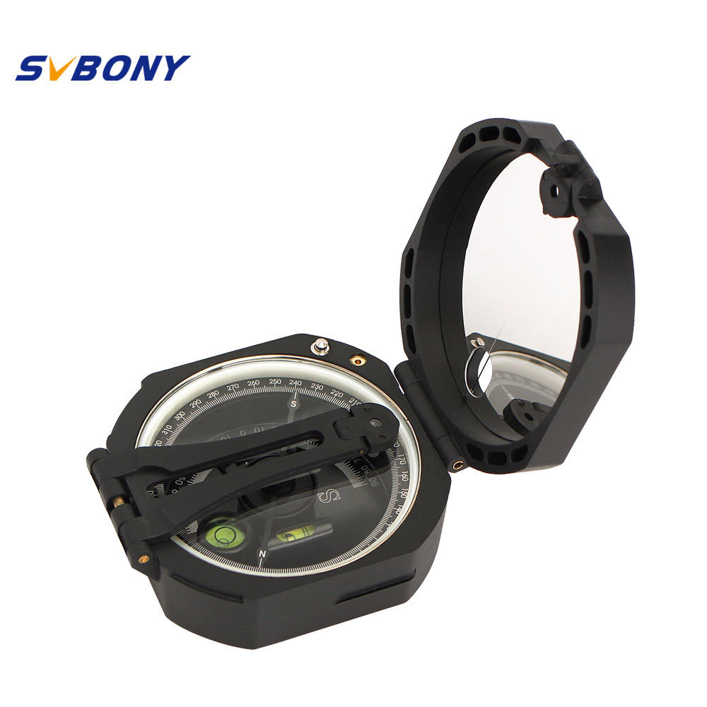 SVBONY Compass Professional Military Outdoor Survival Camping Equipment Geological Pocket Compass Lightweight F9134 7356 15 led compass bivouac camping lantern light lamp travel outdoor exercise equipment with compass