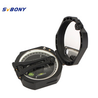 SVBONY M2 Compass Pocket Transit Lensatic Sighting Compass Waterproof For Hiking Camping Survival Marching F9134