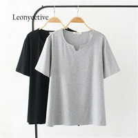 2017 New Summer Women Cotton Short Sleeve T Shirt Loose Casual Very Big T Shirt Girl