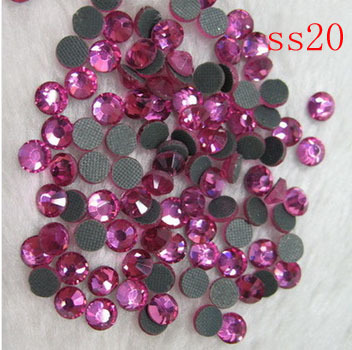 100 brut/14400 pcs 4.6-4.8mm) ss20 MC strass motif conception hot fix verre pierres pour les vêtements décorations