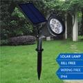 Super Bright 200LM Outdoor LED Solar Garden Light Waterproof Lawn Landscape Spotlight Wall Lights for Garden Decor Dimmer Lamps