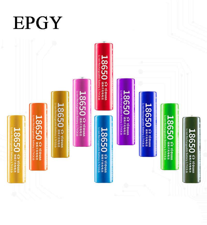 EPGY 100% חדש מקורי 3.7 v 1 חתיכה 2200-3400 mah 18650 ליתיום נטענת סוללה עבור פנס סוללות