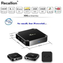 купить RECALLION X96 mini Android TV BOX X96mini Android 7.1 Smart TV Box 2GB 16GB Amlogic S905W Quad Core 2.4GHz WiFi Set top box в интернет-магазине
