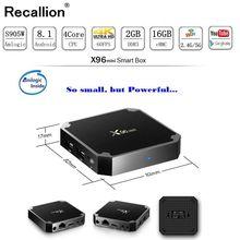 RECALLION X96 mini Android TV BOX X96mini Android 7.1 Smart TV Box 2GB 16GB Amlogic S905W Quad Core 2.4GHz WiFi Set top box недорого