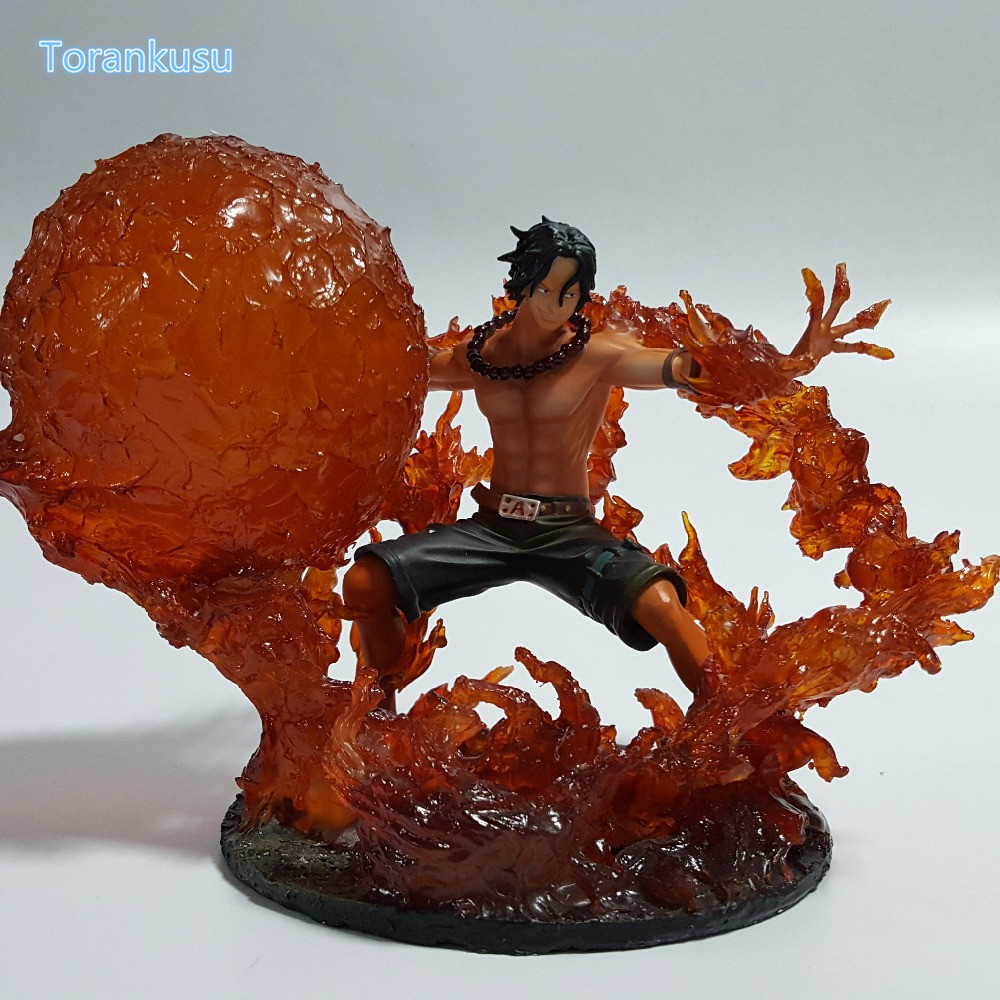 One Piece Action Figures Ace Fire Fist DIY Figure Toy Anime Onepiece Portgas D Ace Diorama Fire Devil Fruit Model Toys OP28 anime one piece fire fist ace handsome model garage kit pvc action figure classic collection toy doll